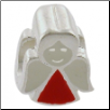 Enamel Bead - Angel - Red/White