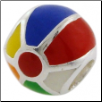 Enamel Bead - Beach Ball - Multi Color