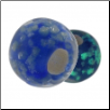 Glow in the Dark Glass Beads - Blue