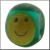 Kidz Smiley Face Glass - Aqua w/ Yellow Smiley