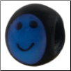 Kidz Smiley Face Glass - Black w/ Blue Smiley