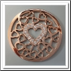 Coin C-04 - Multi Heart Center With CZ - Rose Gold