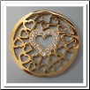Coin C-05 - Multi Heart Center With CZ - Yellow Gold