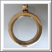 Coin Pendant - Pendant Smooth - Yellow Gold