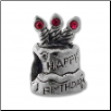 CZ Silver Bead - Birthday Cake - Pink - New