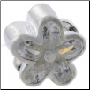 CZ Select Bead - Flower with 5 CZ Petals - Clear