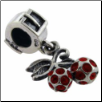 Deluxe Dangle - Cherries with Red Cz'S