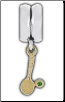 Dangle Smooth - 14K Solid Gold - CZ Tennis Racquet