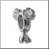 Silver CZ Spinner Wheel - Clear Prong