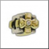 Two Tone CZ Selects 10K Solid Gold & 925 Silver Bead - Gift Box