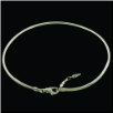 Silver Rope Extendable Lobster Clasp Necklace